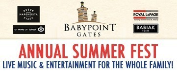 Baby Point Gates BIA SummerFest Schedule of Events