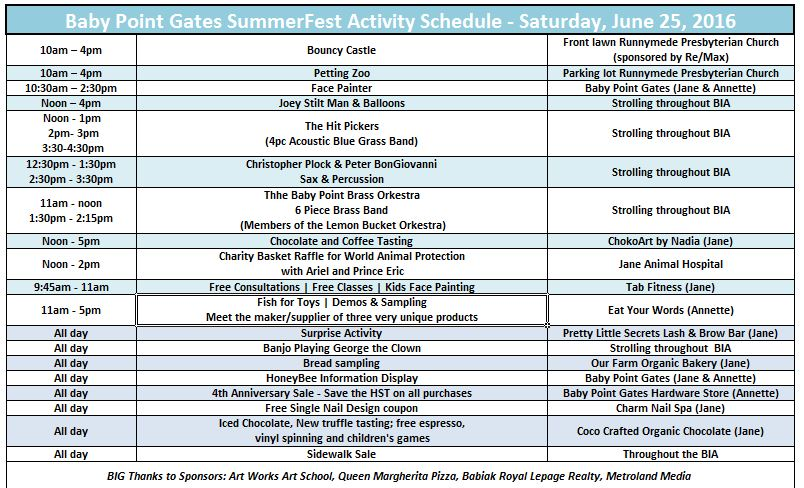 Summerfest 2016 events schedule picture