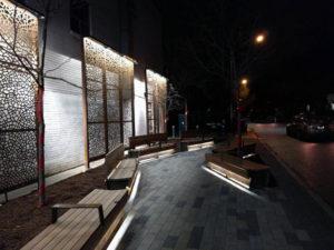 matthew night flowing pedestrian walkway