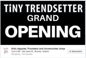 tiny trendsetter image store opening